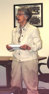 Barbara O'Brien honoring Amelia Earhart