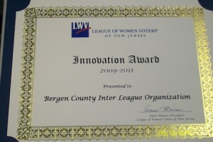 LWVNJ Award received for Women's History Month program