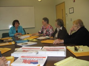 League members meet with County Clerk Kathe Donovan