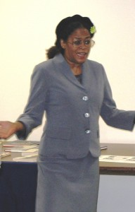 LWVNJ President Toni Zimmer honors Rosa Parks
